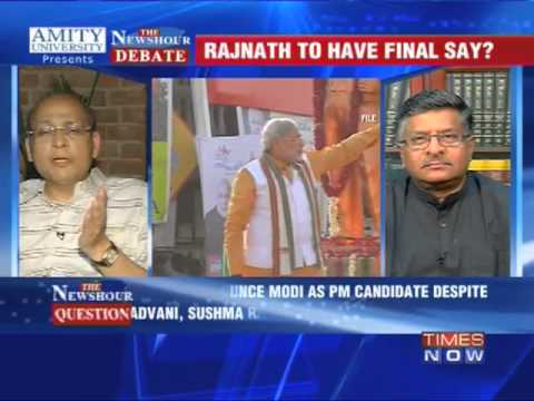 The Newshour Debate: Rajnath Singh to have final say on Modi? - Part 1
