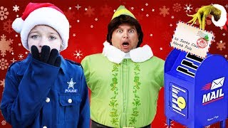 Where's Santa's magical wishlists? Silly funny kids Christmas video featuring Buddy the Elf w/Grinch
