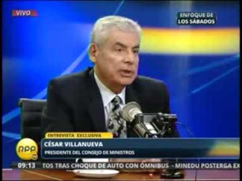 El presidente del Consejo de Ministros, César Villanueva
