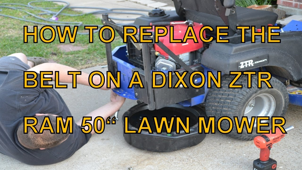 How To Replace The Mule Belt On A Dixon Ram 50 Zero Turn Mower  Other Models Similar
