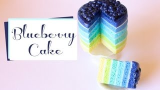 Blueberry Layer Cake Polymer Clay Tutorial