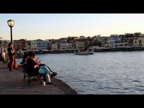 Chania - old town sunset