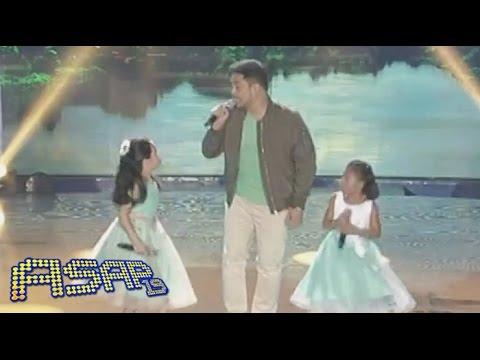 Ang boses ng mga bulilit na sina Lyca and Darlene with Jed Madela
