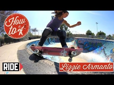 How-To Skateboarding: 5-0 Roll In with Lizzie Armanto