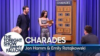Charades with Jon Hamm and Emily Ratajkowski