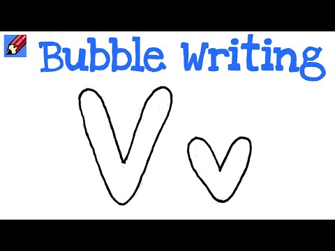 How Do You Make A W In Bubble Letters