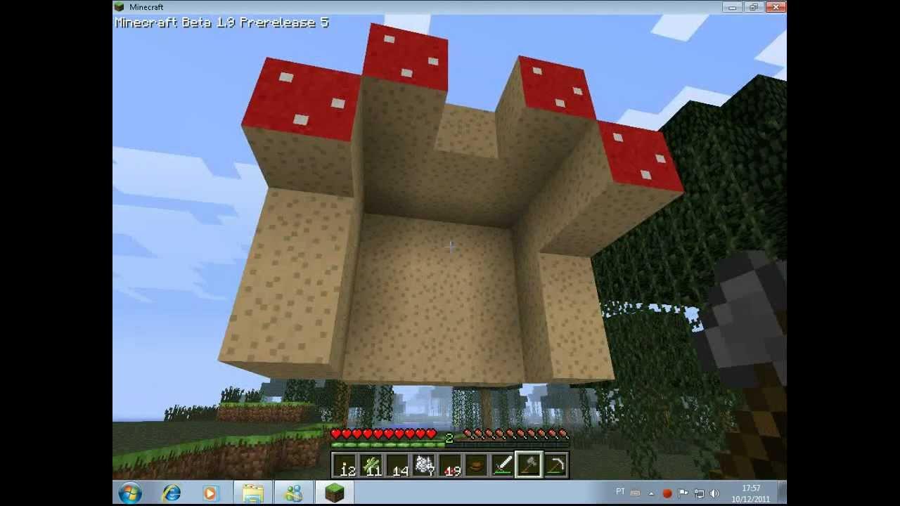 Minecraft  Como fazer um cogumelo gigante ou árvore de cogumelo