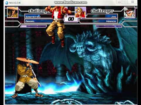 MUGEN BATTLE #207 Zantetsu & Angel Vs  Jin & Marco