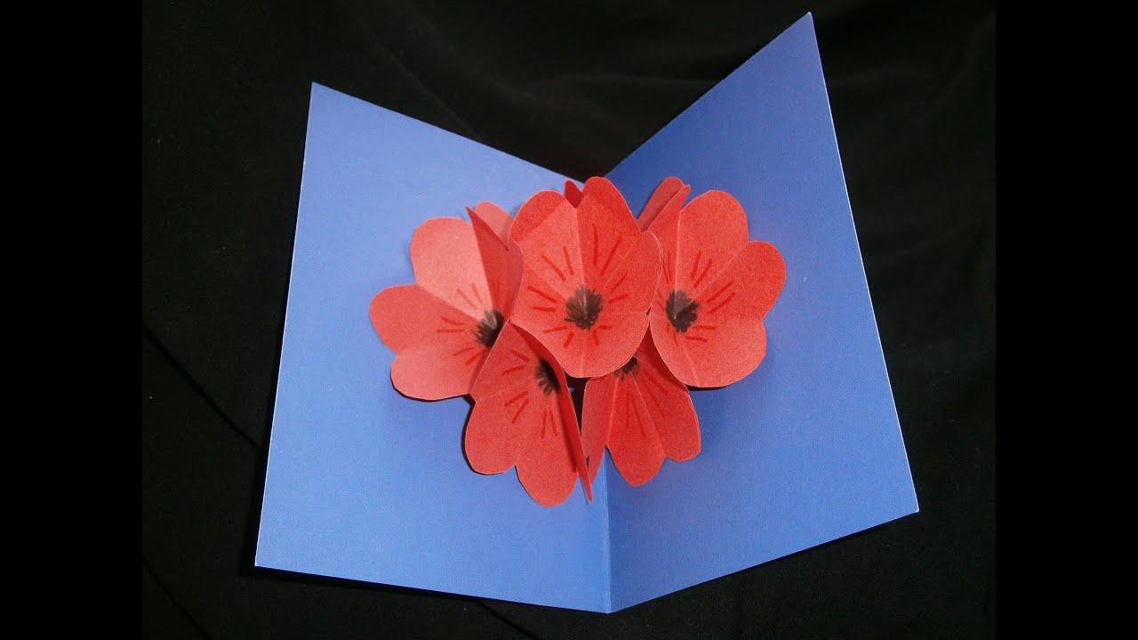 moederdag prachtige bloemen pop up kaart zelf maken