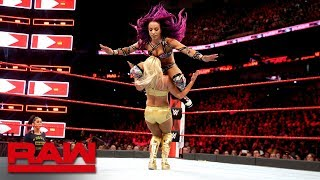 Sasha Banks vs. Mandy Rose: Raw April 9, 2018