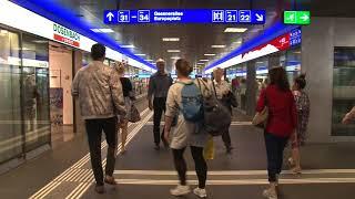 فيديو | روبورطاج حول محطة القطارات بـــ''زوريخ'' أكبر محطة في سويسرا يعبر من وضليها أزيد من 400 ألف مسافر وأكثر من 2951 قطار بشكل يومي.. تفوق نسبة وصول القطارات في الوقت المحدد 98 بالمئة ! | قنوات أخرى