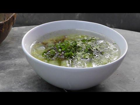 Vegan Vegetarian Chinese Recipe: Don Gua - Winter Melon Soup