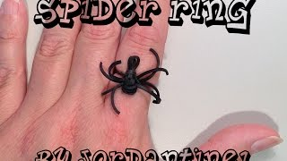 New Spider Ring Monster Tail Or Rainbow Loom Halloween