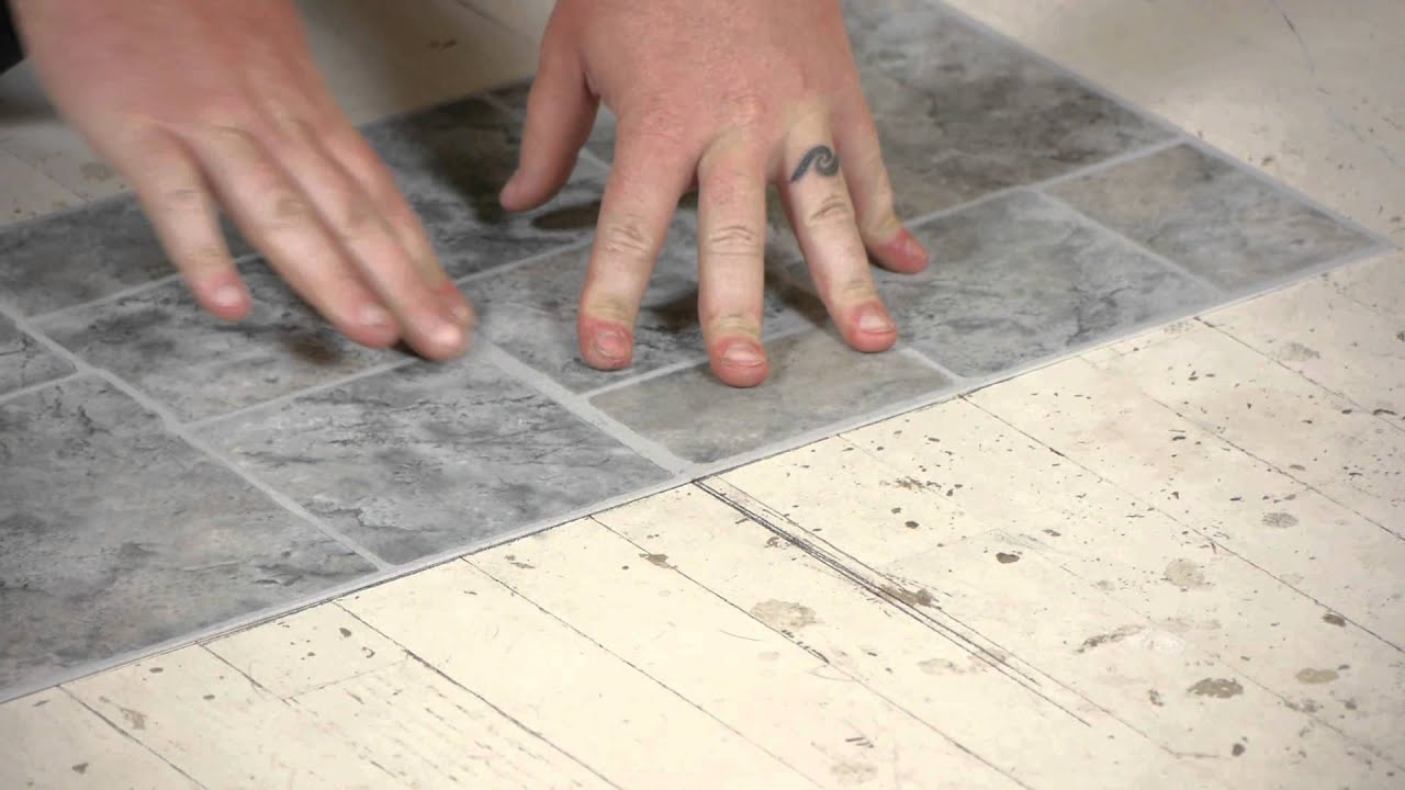 How To Lay Vinyl Tiles On Top Of Old Flooring : Flooring