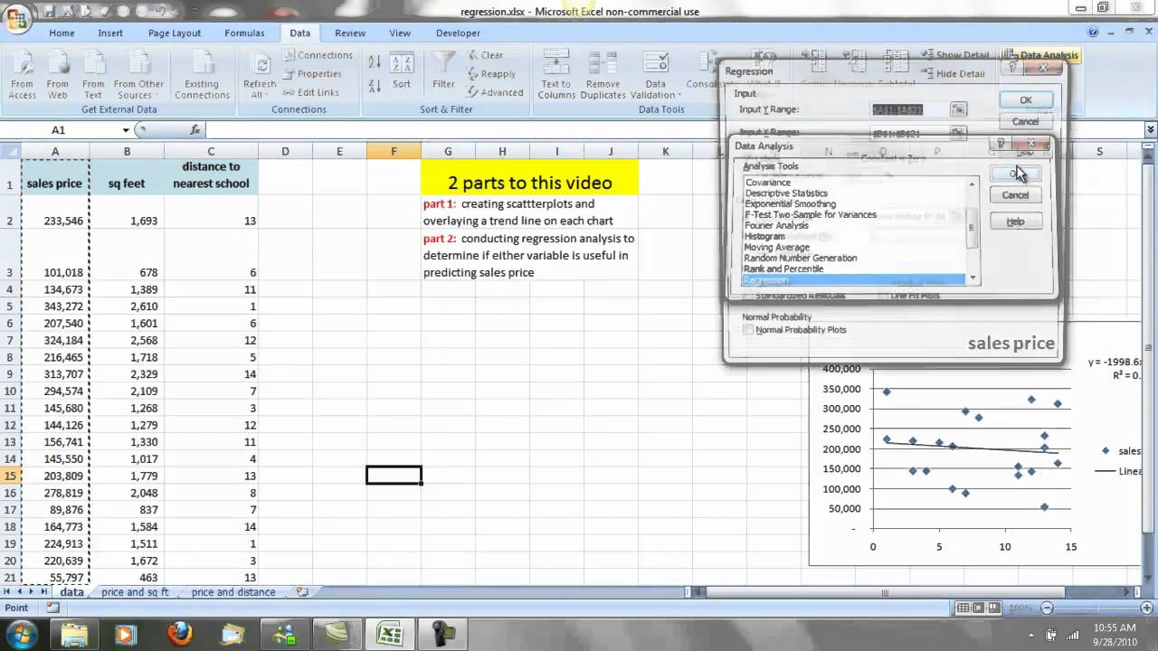 excel how to make trend line