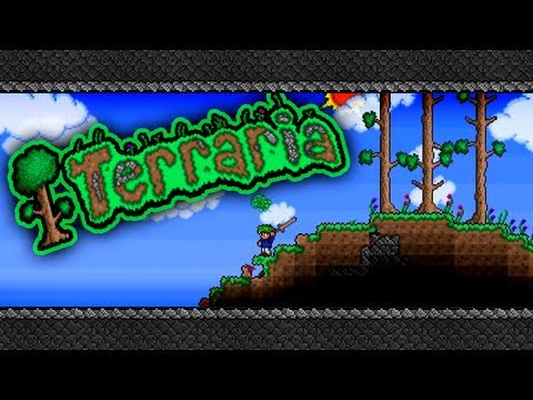 TotalBiscuit and Jesse Cox Play Terraria - Part 5 - Jesse is bad at falling