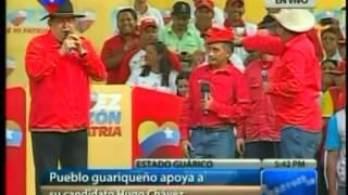 Chávez En Guárico 18-7-12 (Cantando Música Llanera