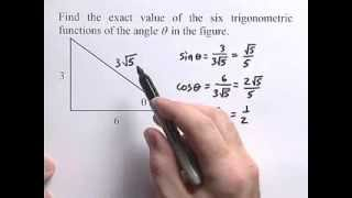 Algebra 2- How To Find The Exact Value Of Six