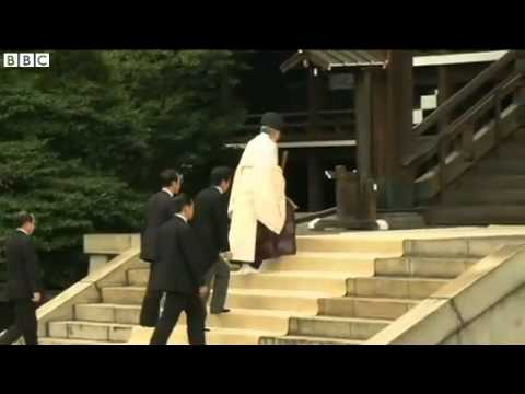 BBC News   Japan PM Shinzo Abe visits Yasukuni WW2 shrine