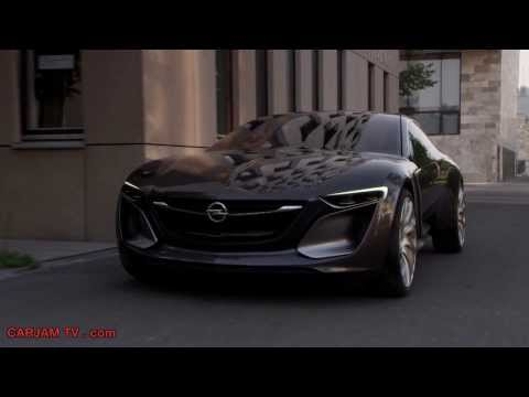Opel Monza HD Driving Scenes Hybrid Gullwing Commercial 2014 GM Concept Electric Car Carjam TV HD
