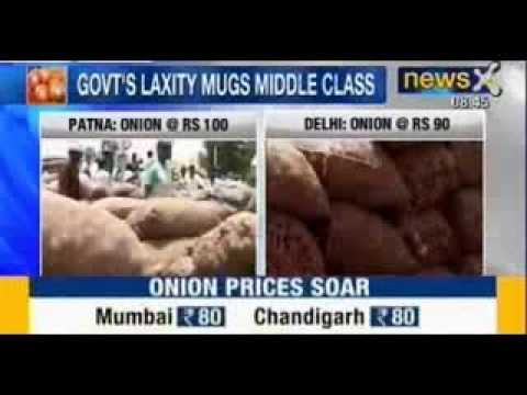 Price Rise : Onion prices on fire, nears Rs.100 per kg in Delhi - NewsX