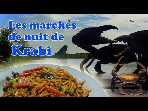 les marchés de nuit krabi