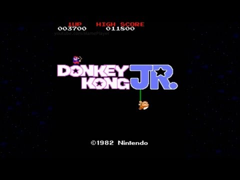 [HD] Donkey Kong JR. 1982 Nintendo Mame Retro Arcade Games