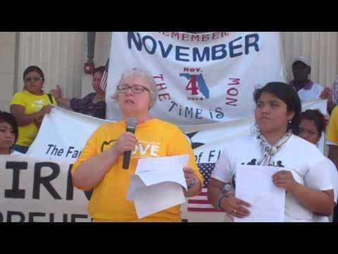 Sarasota FL, Federal Building, Immigration Rally 09 05 13