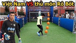 Thử Thách Bóng Đá sút Penalty với thủ môn Robot đỉnh như Bùi Tiến Dũng U23 Việt Nam World Cup 2018