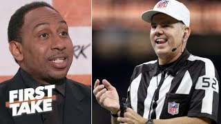 NFL's conference championship games overshadowed by controversial officiating | First Take