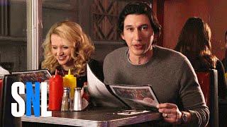SNL Host Adam Driver & Kate McKinnon Grab a Bite at The Diner