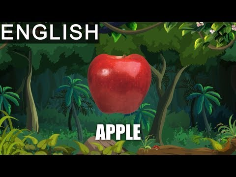 Fruits- APPLE  - Pre School - Animated