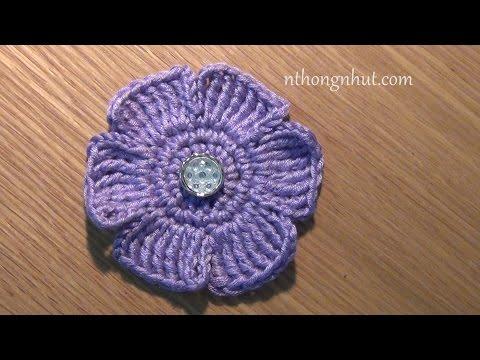 Hướng dẫn móc hoa trang trí nón