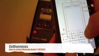 How To Unlock Motorola Droid 3 (XT860) Bell, AT&T