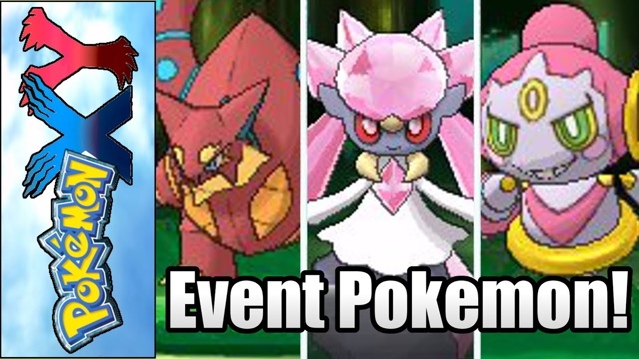 pokemon x and y how to get event legendaries