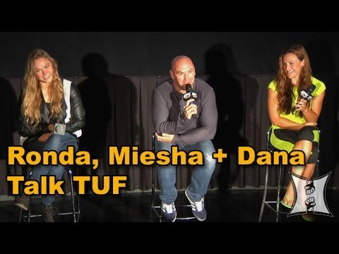 Champ Ronda Rousey, Miesha Tate + UFC President Dana White Discuss The Ultimate Fighter in Media Q&A