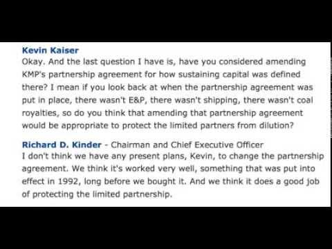 Partnership agreement ~ Kevin Kaiser