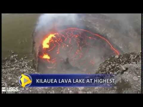 Hawaiian Kilauea Volcano reaches highest level since it began Erupting in 2008 (Oct 17, 2012)