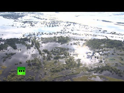 Inland Sea: Aerial video of floods swamping Russia's Far East