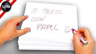 Trucos con papel
