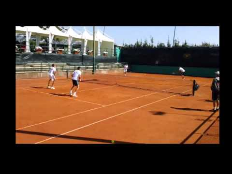 GB Davis Cup doubles practice with Ross Hutchins & Colin Fleming