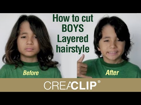 Hairstyle Youtube Boy : How to cut BOYS Layered hairstyle- Childrens cuts - YouTube