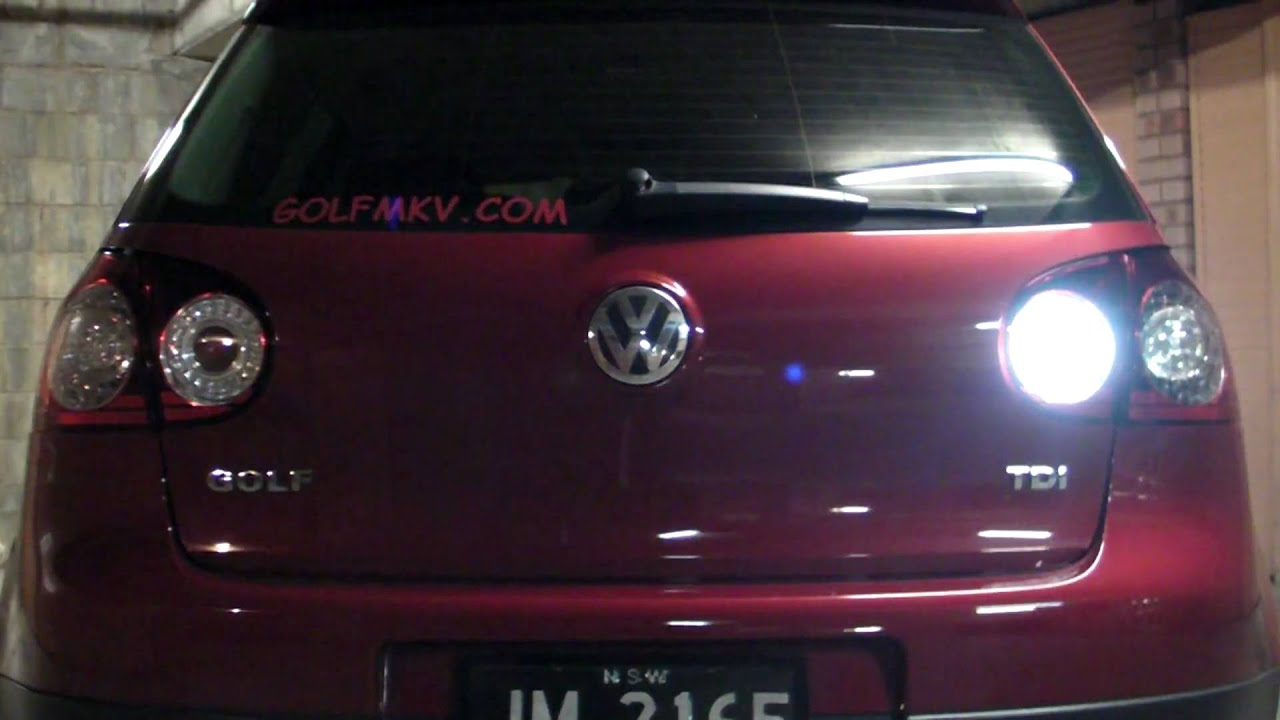 Vw Golf Mk5 Tdi With Led Reverse And Rear Fog Light Globes