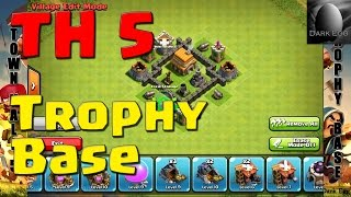 Clash Of Clans: Town Hall 5 Trophy Base