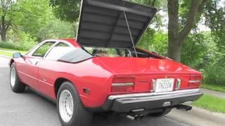 1975 Lamborghini Urraco P111 Engine Sound and Rev