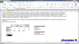 Tutorial Solver En Excel 2010 Ejemplo Practico By JR
