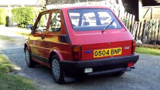 Fiat 126 BIS interior, exterior, start up & driving!