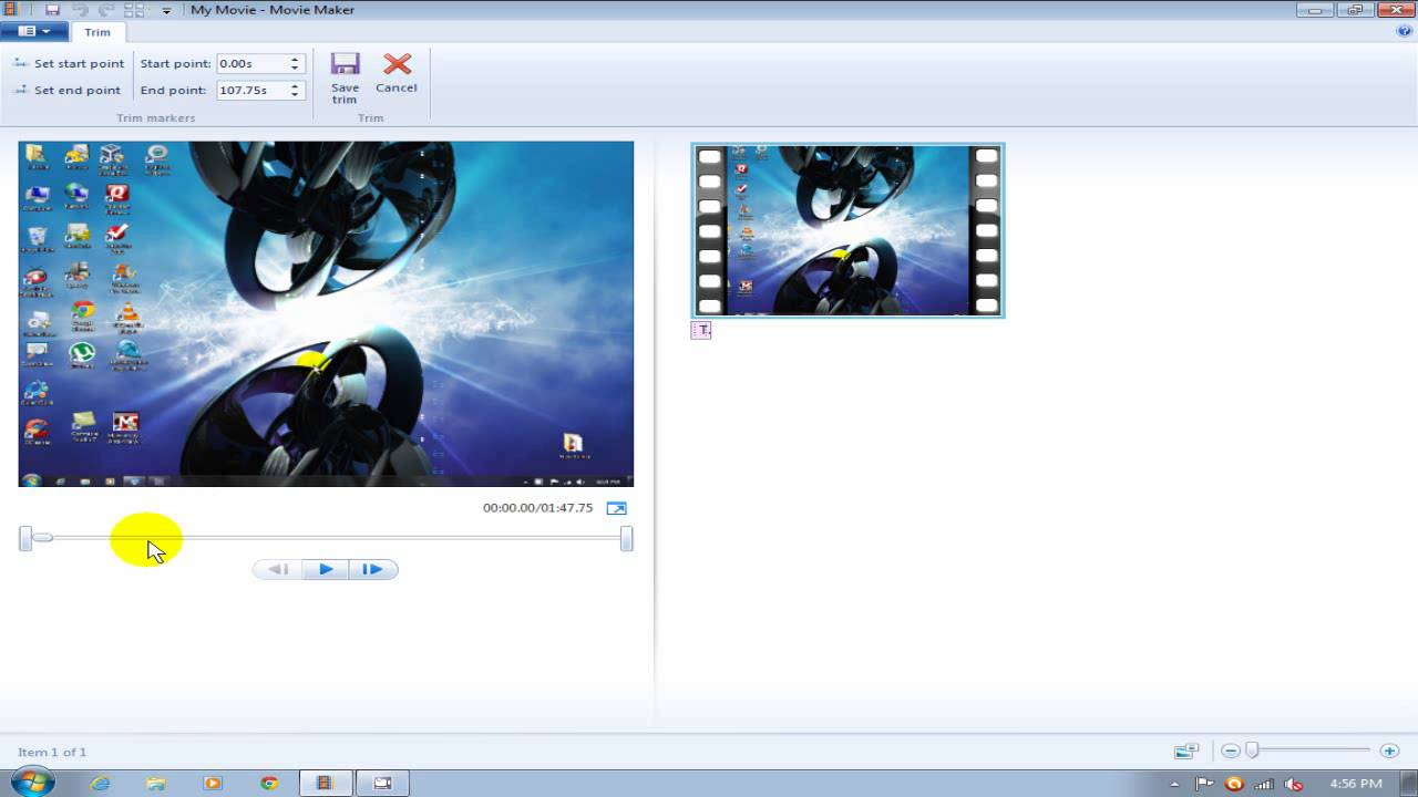 Windows Movie Maker Tutorial 2012/2013 Split & Trim - Free 4 Windows 7 ...