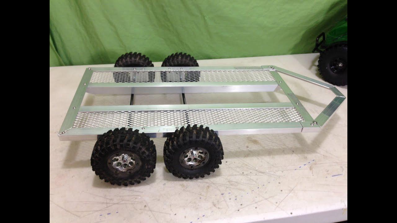 Rc   Scale Tandem Axle Trailer Build