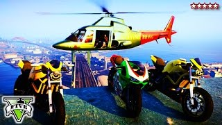 GTA 5 Flight School STUNTS & Fails GTA V Bike Jumps